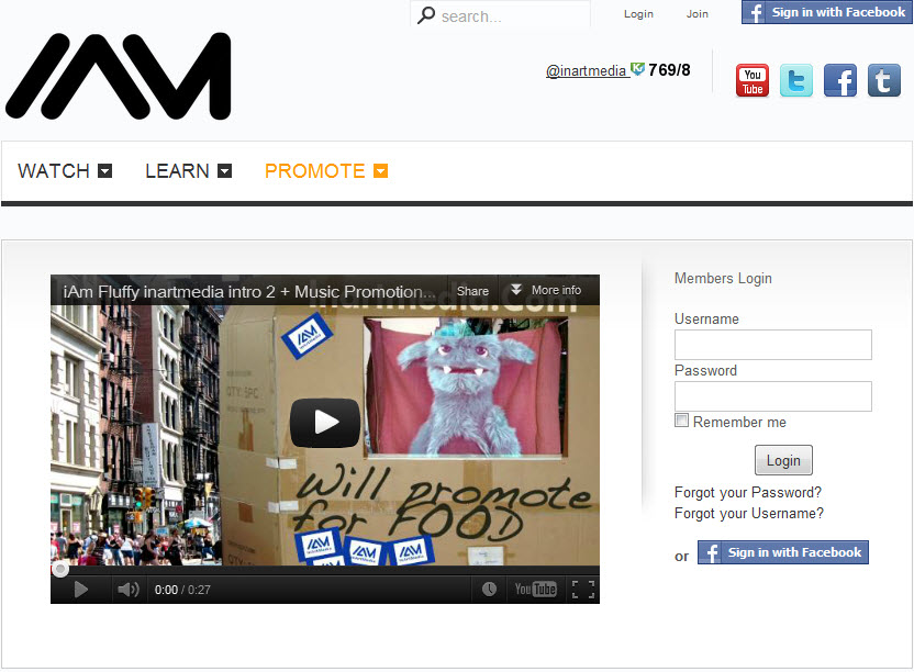 Blast Your Artistic Career And Social Kred For FREE, With Inartmedia.com!