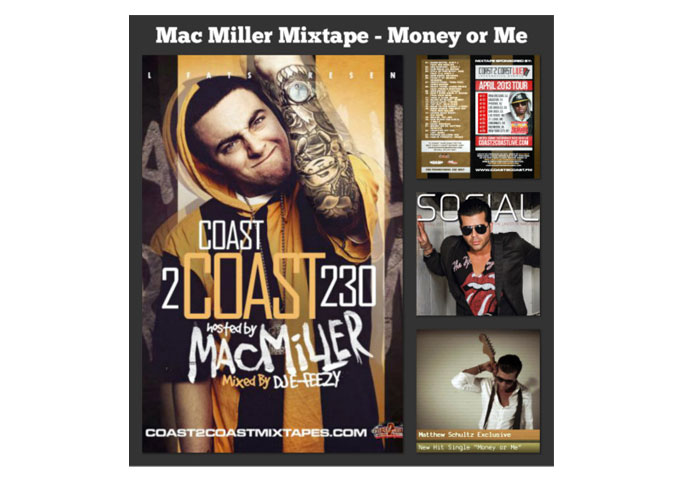 "Matthew Schultz – Does It Again! ""Money or Me"" Selected For New Exclusive Mac Miller Mix Tape Vol 230"