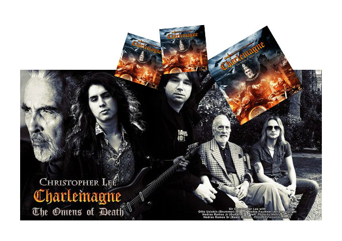 """Legendary Movie Star CHRISTOPHER LEE Releases Metal Album, """"Charlemagne; The Omens of Death"""""""