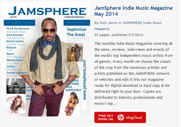 JamSphere Indie Music Magazine May 2014