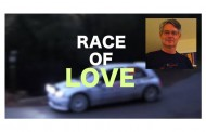 "Lyricist Frank Topper and Artist Charles Brusman do the ""Race of Love"""