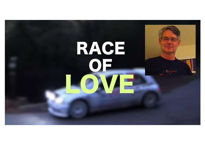 """Lyricist Frank Topper and Artist Charles Brusman do the """"Race of Love"""""""