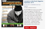 Jamsphere Indie Music Magazine September 2014