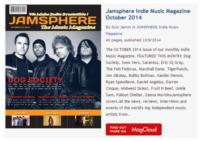 Jamsphere Indie Music Magazine October 2014