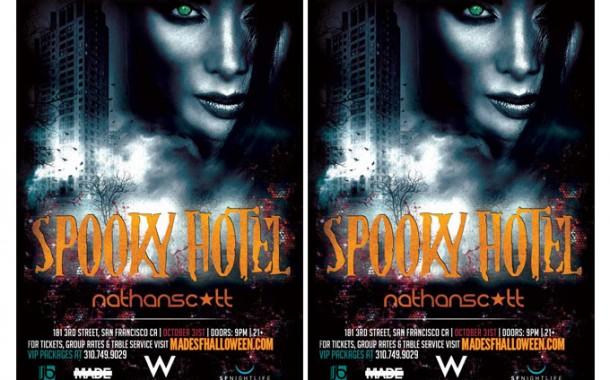 Spooky Hotel W San Francisco Halloween 2014 with DJ Nathan Scott