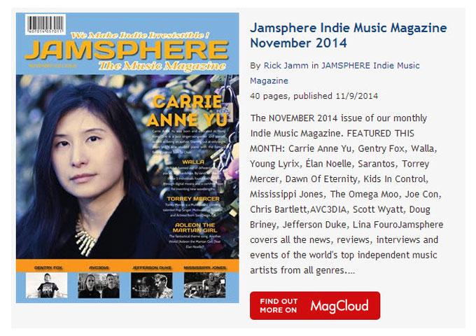 Jamsphere Indie Music Magazine November 2014