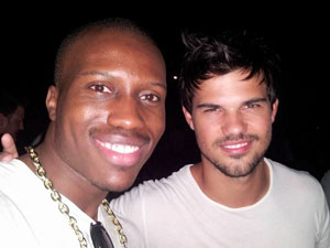 Amadou Ly and Taylor Lautner