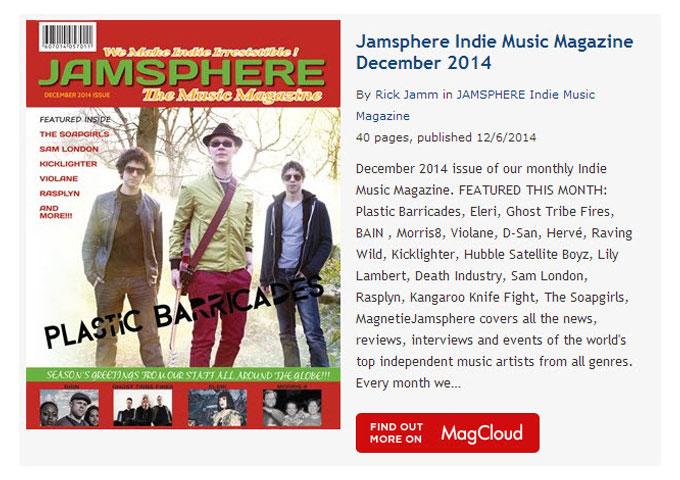 Jamsphere Indie Music Magazine December 2014
