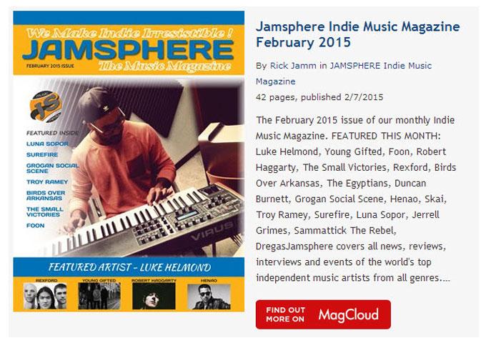 Jamsphere Indie Music Magazine February 2015