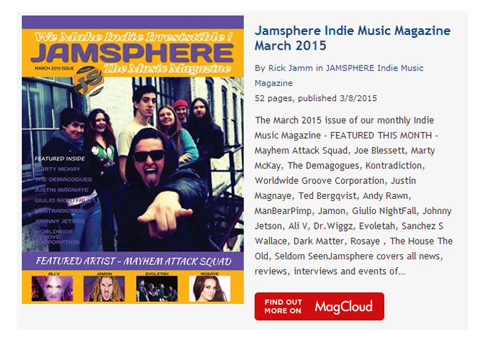 Jamsphere Indie Music Magazine March 2015