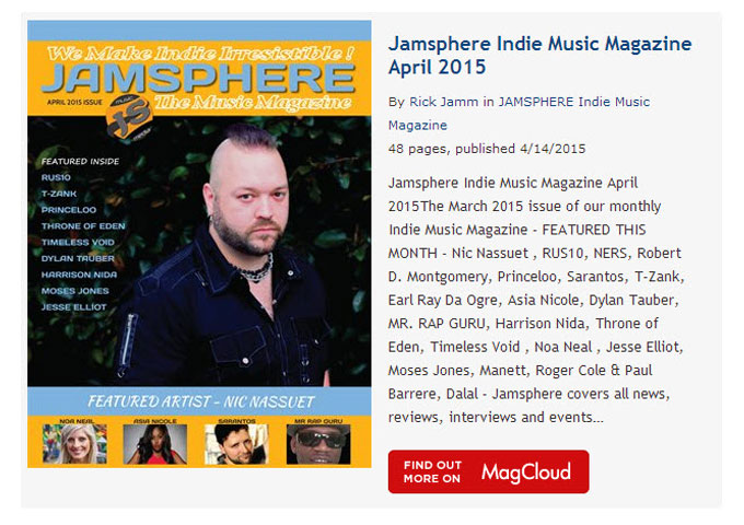 Jamsphere Indie Music Magazine April 2015