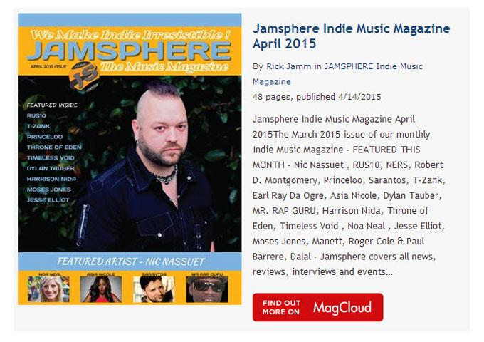 Jamsphere Indie Music Magazine April 2015