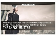 The Check Writer – Putting up Million Dollar Promotions