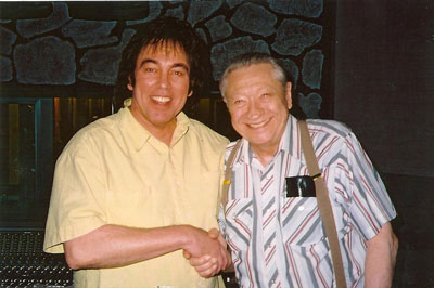 Donny and first Elvis manager and guitarist Scotty Moore