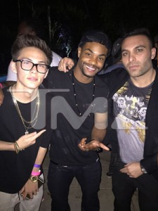 KingBach and Tarik Freitekh at the party