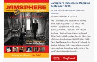 Jamsphere Indie Music Magazine September 2015