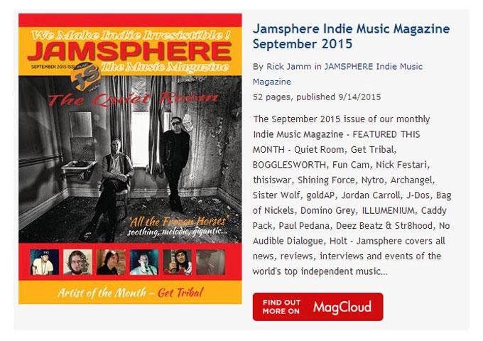 Jamsphere Indie Music Magazine September 2015 - JamSphere