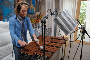 Holger Mertin playing the marimba