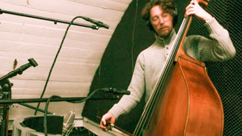 Bentai Trawinski on the upright bass