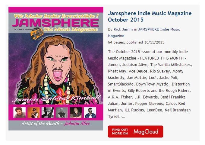 Jamsphere Indie Music Magazine October 2015