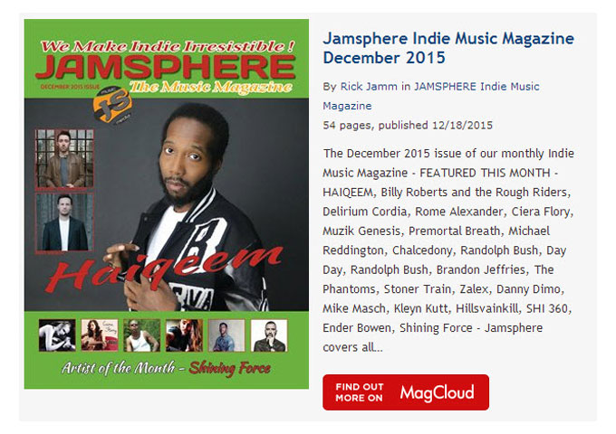 Jamsphere Indie Music Magazine December 2015