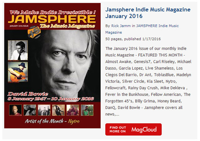 Jamsphere Indie Music Magazine January 2016