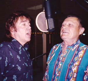 Donny & Stonewall recording in studio