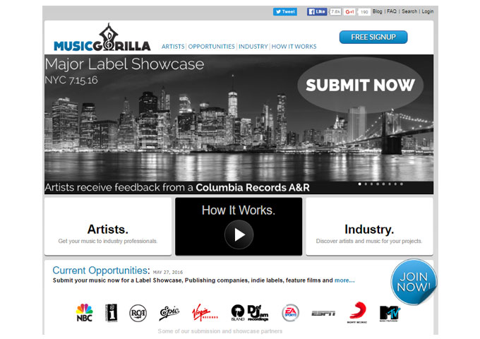 Music Gorilla Introduces A Major Label Showcase for Columbia Records A&R – NYC