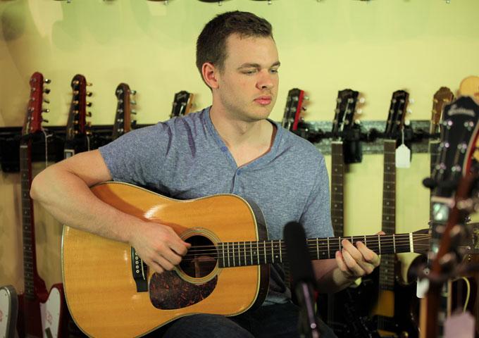 American Idol Star, Clark Beckham in Nashville @ Carter Vintage Guitars