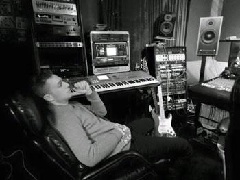 Mikey Shyne in the studio