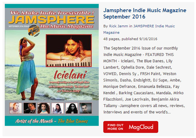 Jamsphere Indie Music Magazine September 2016