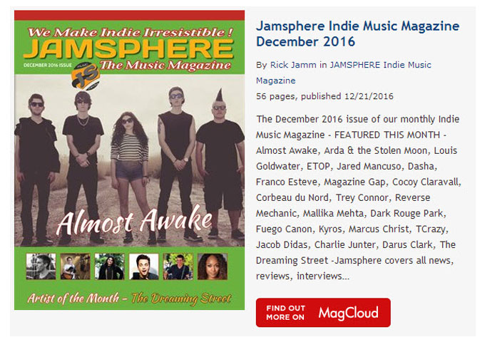 Jamsphere Indie Music Magazine December 2016