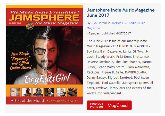 Jamsphere Indie Music Magazine June 2017