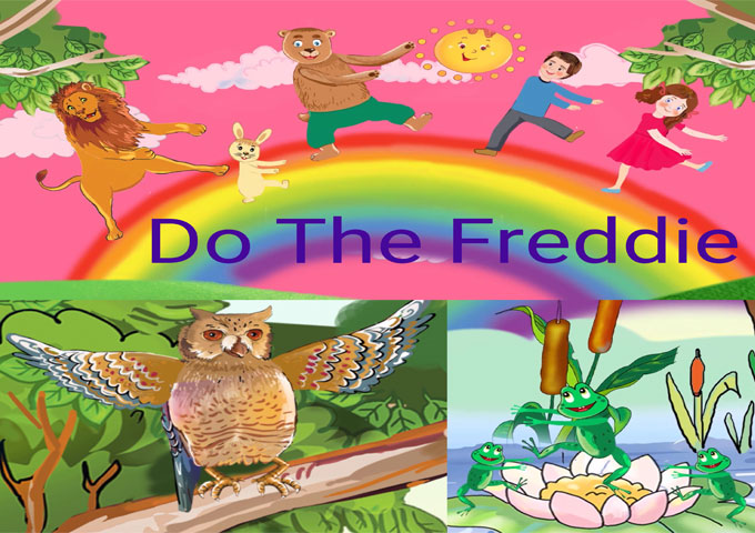 "The Roving Apatosaurus roll out the sixties with ""Do the Freddie"""