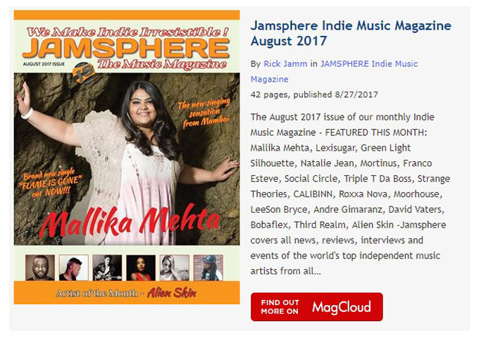 Jamsphere Indie Music Magazine August 2017