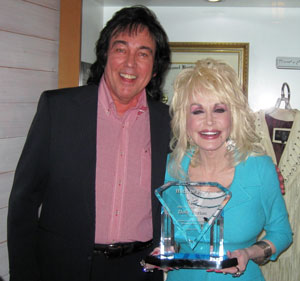 Donny Richmond inducts Dolly Parton into Country Gospel Music Hall of Fame