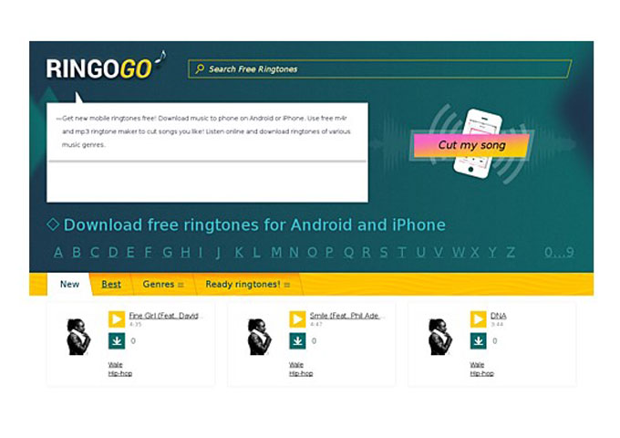 RingoGO – How to cut songs and make ringtones out of them online for free?
