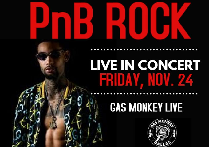 PnB ROCK Performing at the Gas Monkey Live November 24, 2017!