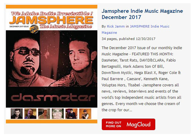 Jamsphere Indie Music Magazine December 2017