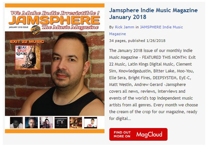 Jamsphere Indie Music Magazine January 2018