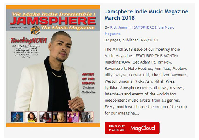 Jamsphere Indie Music Magazine March 2018