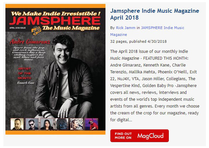 Jamsphere Indie Music Magazine April 2018