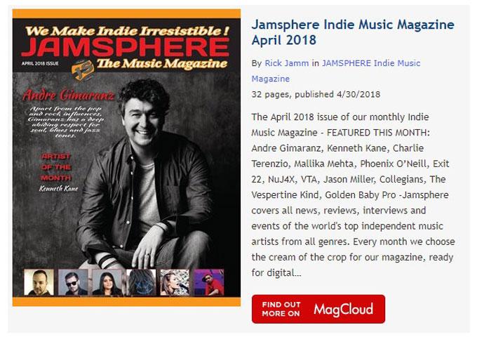 Jamsphere Indie Music Magazine April 2018