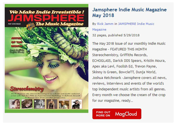Jamsphere Indie Music Magazine May 2018