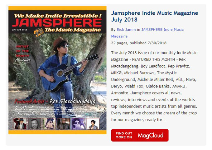 Jamsphere Indie Music Magazine July 2018
