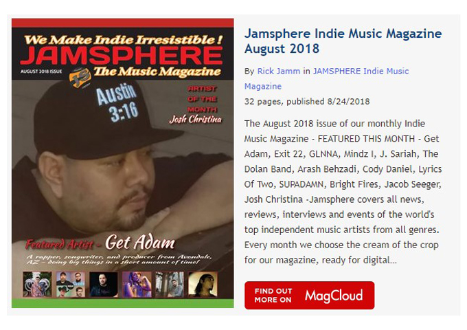 Jamsphere Indie Music Magazine August 2018