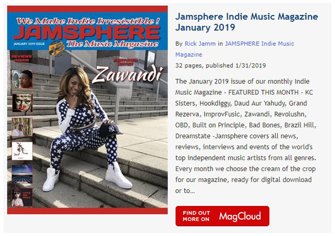Jamsphere Indie Music Magazine January 2019