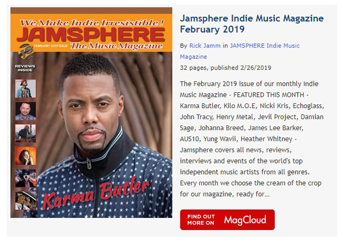 Jamsphere Indie Music Magazine February 2019 - JamSphere