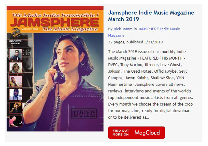Jamsphere Indie Music Magazine March 2019