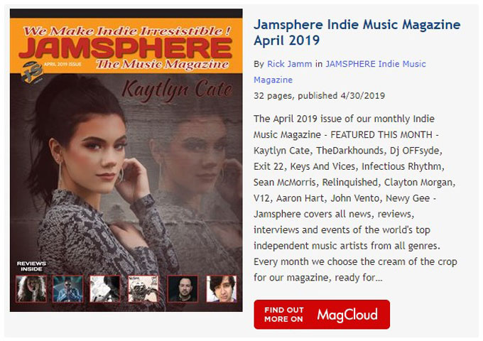 Jamsphere Indie Music Magazine April 2019